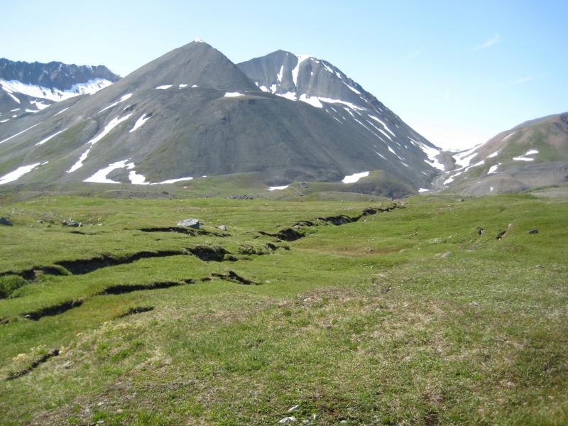 2002 Denali fault rupture.  Photography by Dr. Richard Koehler